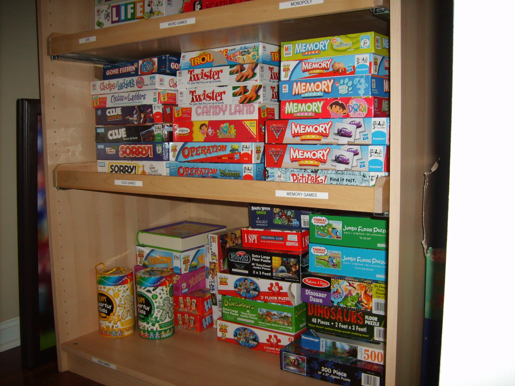 Organizing A Family Game Closet